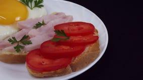 Panini deliziosi della prima colazione immagini stock