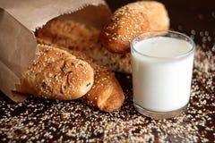 Panini della farina integrale di Brown Immagine Stock Libera da Diritti