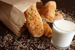 Panini della farina integrale di Brown Fotografia Stock