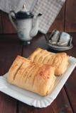 Panini della pasta del soffio con la ricotta e l'uva passa Immagine Stock Libera da Diritti