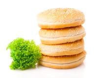 Panini di hamburger Fotografie Stock Libere da Diritti