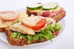 Panini di prosciutto e del pollo Immagine Stock Libera da Diritti
