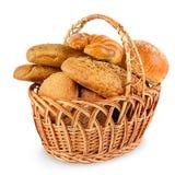 Panini di recente al forno dei pani, croissant, baguette, pane del cereale Fotografie Stock Libere da Diritti