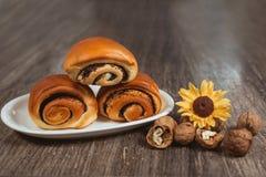 Panini dolci sul piatto Fotografia Stock