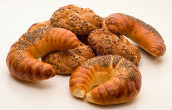 Panini e croissant integrali Fotografia Stock Libera da Diritti
