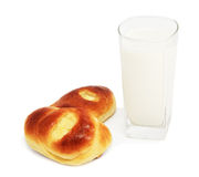 Panini e vetro di latte Fotografia Stock Libera da Diritti