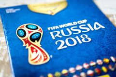 Free Panini FIFA World Cup Russia 2018 Official Licensed Sticker Album Stock Photography - 113676792