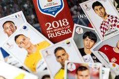 Free Panini FIFA World Cup Russia 2018 Official Licensed Sticker Album Royalty Free Stock Image - 113676866