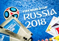 Free Panini FIFA World Cup Russia 2018 Official Licensed Sticker Album Stock Photography - 113676902