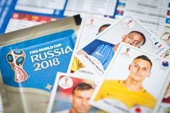 Panini FIFA World Cup Russia 2018 Official Licensed Sticker Album.  Royalty Free Stock Photography