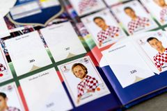 Panini FIFA World Cup Russia 2018 Official Licensed Sticker Album Royalty Free Stock Photo
