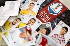 Panini FIFA World Cup Russia 2018 Official Licensed Sticker Album.  Royalty Free Stock Image