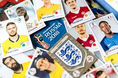 Panini FIFA World Cup Russia 2018 Official Licensed Sticker Album.  Royalty Free Stock Photo