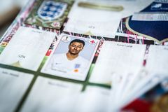 Panini FIFA World Cup Russia 2018 Official Licensed Sticker Album.  Royalty Free Stock Photos