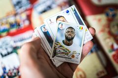 Panini FIFA World Cup Russia 2018 Official Licensed Sticker Album.  Stock Photography