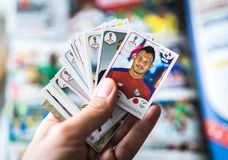 Panini FIFA World Cup Russia 2018 Official Licensed Sticker Album.  Royalty Free Stock Images
