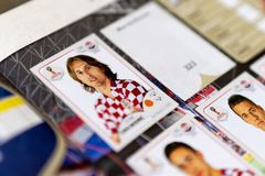 Panini FIFA World Cup Russia 2018 Official Licensed Sticker Album Royalty Free Stock Images