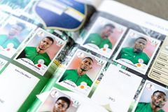 Panini FIFA World Cup Russia 2018 Official Licensed Sticker Album Stock Images