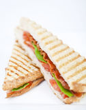 Panini. Fresh toasted panini blt sandwich with grill marks Stock Photography