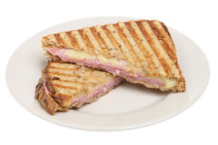 Panini with Ham & Cheese Royalty Free Stock Photography