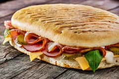 Panini. With ham and cheese Royalty Free Stock Photos