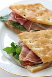 Panini, italienisches Sandwich lizenzfreie stockfotografie