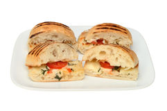 Panini on plate Royalty Free Stock Images
