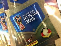 Panini - raccolta 2018 dell'autoadesivo della Russia della coppa del Mondo della FIFA Immagini Stock