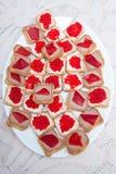 Panini rossi del caviale Immagini Stock