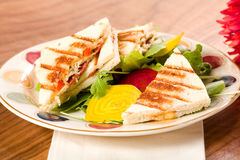 Panini with Salad Stock Images