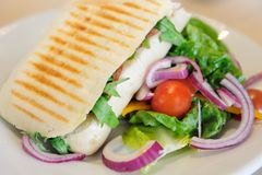 Panini with Salad. Ready to eat Stock Image