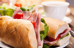 Panini sandwich with ham, cheese and tomato Stock Photography