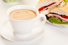 Panini sandwich with ham, cheese and tomato Royalty Free Stock Images