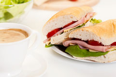 Panini sandwich with ham, cheese and tomato Stock Image