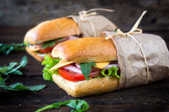 Panini sandwiches Stock Photo