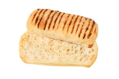 Panini sliced in half royalty free stock photography