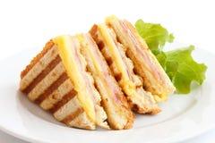 Panini tostato del formaggio e del prosciutto immagine stock libera da diritti