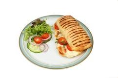 Panini und Salat stockbilder