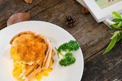 Panino arrostito del formaggio per la prima colazione Fotografia Stock