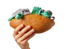 Panino chiaro - dieta - dimagrire Fotografia Stock Libera da Diritti