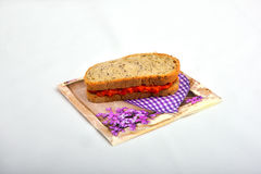 Panino con chutney, ajvar Fotografie Stock