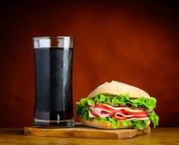 Panino con cola fredda Fotografia Stock