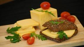 Panino con formaggio Fotografia Stock