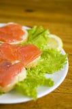 Panino con i pesci Immagine Stock Libera da Diritti