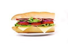 Panino con il prosciutto e le verdure Immagini Stock