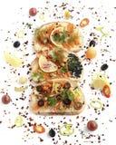 Panino con il salmone affumicato Fotografie Stock Libere da Diritti