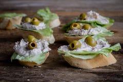 Panino con le olive Fotografie Stock