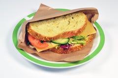 Panino con vecchio formaggio. Fotografia Stock Libera da Diritti