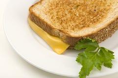 Panino cotto del formaggio Fotografie Stock