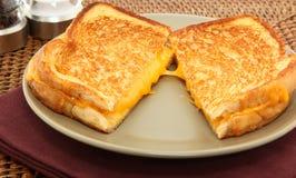 Panino cotto del formaggio Fotografia Stock